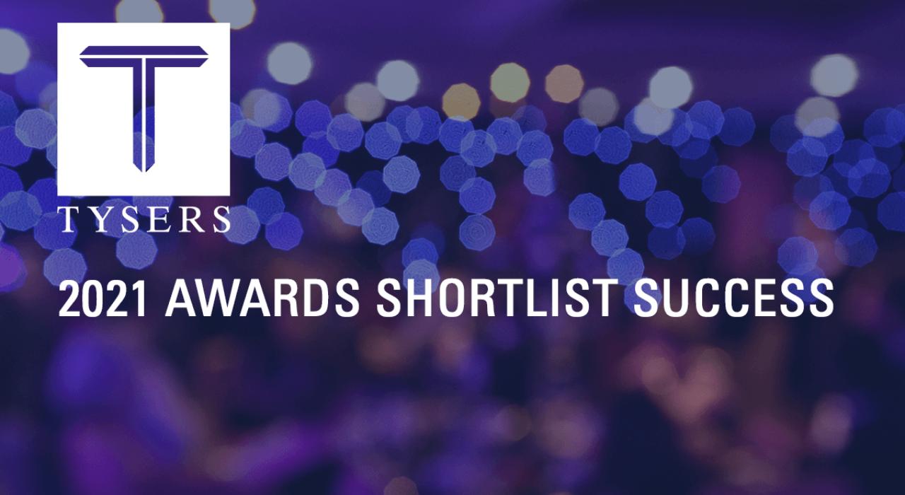 Tysers Insurance Brokers | 2021 Awards Shortlist Success